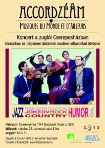 Affiche Accordzeam en Hongrie (concert Budapest 23 mars)