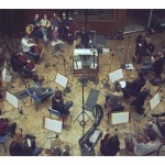 Accordzéâm et le Paris Scoring Orchestra au studio Davout (photo Anaëlle Trum.K)