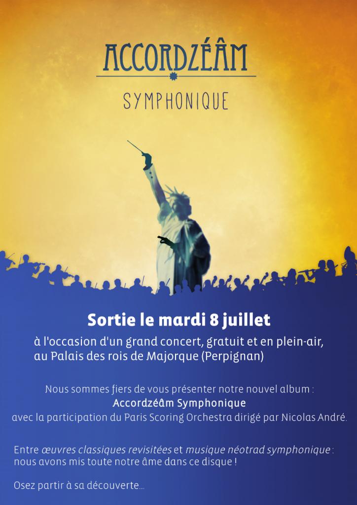 Sortie du disque Accordzéâm Symphonique le 8 juillet (visuel : mathildesign.com)