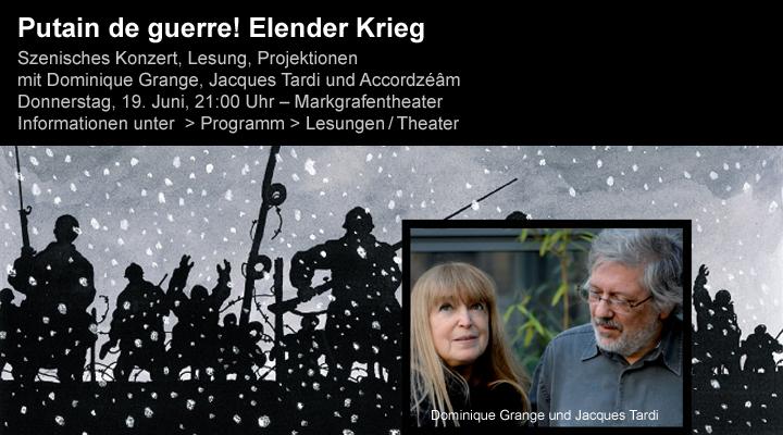 Putain de guerre ! (Dominique Grange, Jacques Tardi) à Erlangen le 19 juin 2014