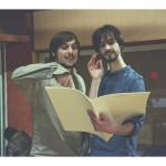 Accordzéâm au studio Davout : Raphaël et Michaël relisent le conducteur (photo Anaëlle Trum.K)
